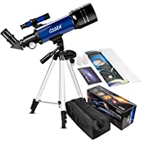 CSSEA 70mm Telescope with Adjustable Tripod & Finder Scope & Two Eyepieces for Kids and Astronomy Beginners