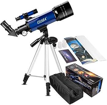 Cssea 70mm Telescope w/ Adjustable Tripod, Finder Scope & Two Eyepieces