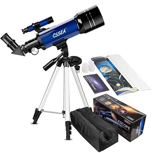 Kids Telescope for Beginners Adult, 70mm Astronomical Refractor Telescope with Adjustable Tripod & & Finder Scope- Portable Travel Telescope for Children Teens (Best Beginner Telescope For Kids)
