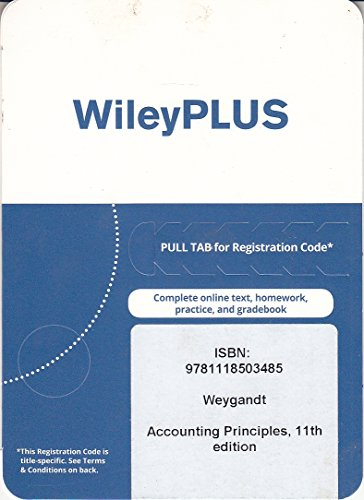 Accounting Principles, 11th edition WileyPLUS Card