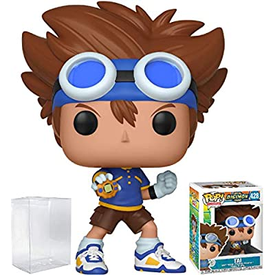 Funko Pop! Animation: Digimon - Tai Kamiya Vinyl Figure (Bundled with Pop Box Protector Case): Toys & Games