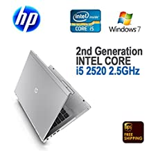 "HP EliteBook 8460p Notebook Laptop 14"" / i5-2520m 2.50 GHz / 4 GB Memory / 250 GB HD / Windows 7 Pro / Bluetooth / WIFI / Web Camera / DVDRW / Working Battery / AC Adapter"
