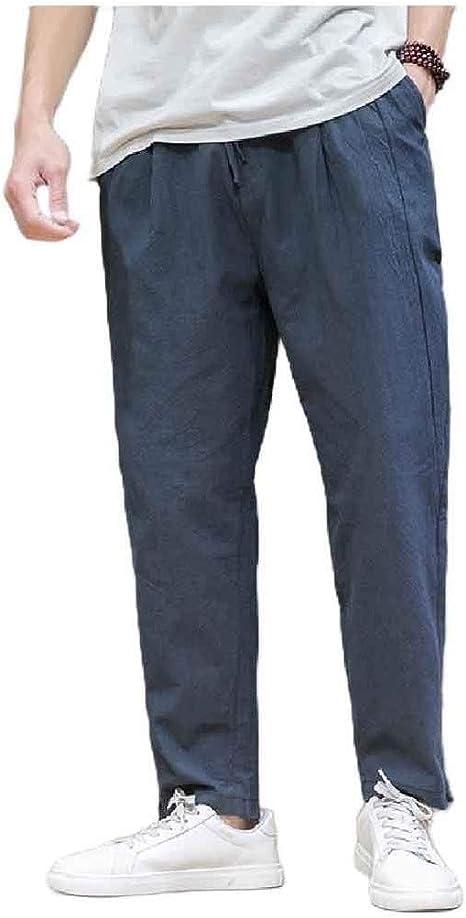 Candiyer メンズ チャイニーズ スタイル ハーレム サマー プラス サイズ ルーズフィット パラッツォ ラウンジ パンツ
