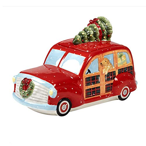 (Certified International 22792 Home for Christmas 3-D Truck Cookie Jar 11