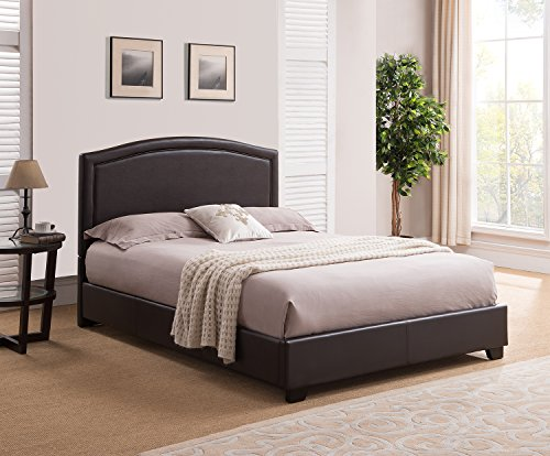 Mantua Annapolis Upholstered Platform Bed, King, Brown, ABB66TBR