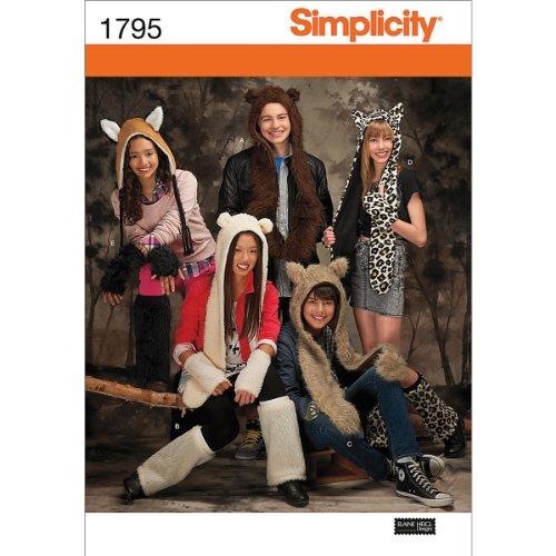 Simplicity Pattern Misses, Men's and Teen's Bear/Wolf/Cheeta