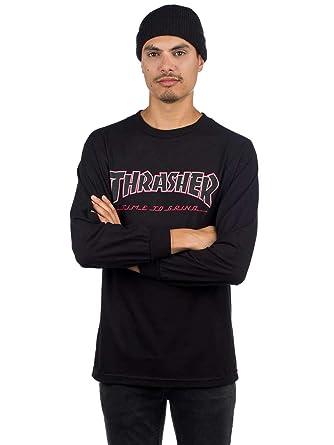 23b1f3cdaac2 Independent Men s Thrasher TTG L S Shirts at Amazon Men s Clothing ...