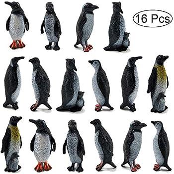 8x Mini Plastic Penguin Ocean Animal Figure Model Preschool Kids Favour Toys TK