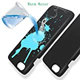 """Thermal Sensor Phone Case for iPhone 7 Plus, Magical Heat Touch Induction Color Changing Holster, Ultra-thin Shockproof Hard PC Anti-scratch Cover, Protective Shell for Apple 7 Plus 5.5"""" inch (Blue)"""