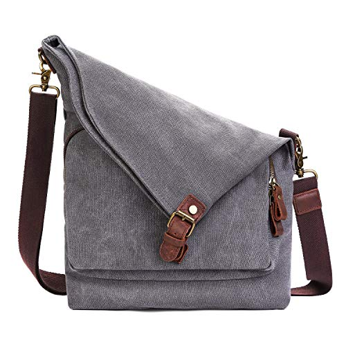 AmHoo Canvas Crossbody Bag for Women Messenger Purse Handbags Shoulder Bag Hobo Totes Unisex