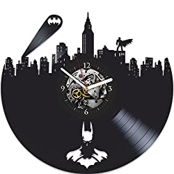 Batman Vinyl Wall Clock, Batman New Year Gift, Vinyl Wall Clock, Batman Xmas Gift For Boy, Wall Clock Large, Batman Gift For Kids, Batman Gift For, Batman Birthday Gift For Boy, Batman Gift For Boy