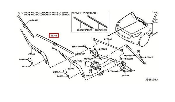 [SCHEMATICS_4CA]  Amazon.com: Infiniti 28890-1LB0A, Windshield Wiper Blade: Automotive   Wiring Diagram Rear Wiper Qx56      Amazon.com