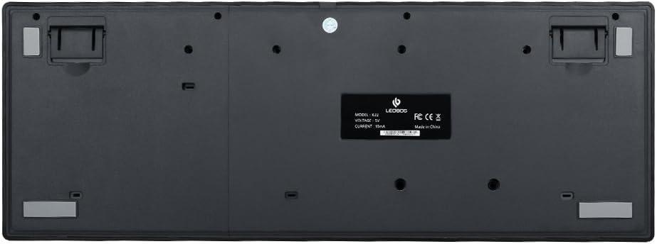 leobog K22 con cable mecánico teclado, teclado para juegos, láser grabado teclas, 104 Clave, rojo interruptores, PC, ordenador, portátil, ordenador ...