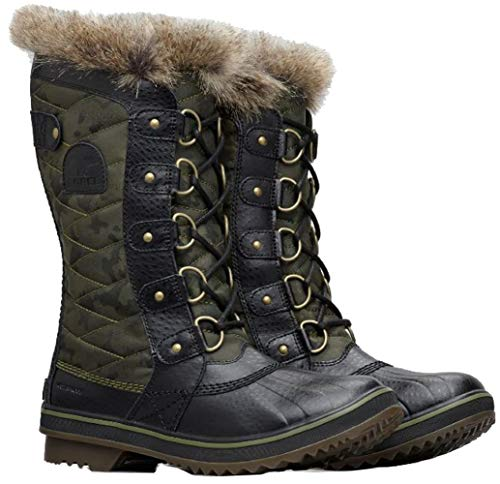 SOREL Women's Tofino II Boots, Camo/Hiker Green, 6 M US