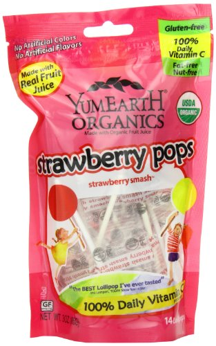 Yummy Earth Strawberry Pops, 3-Ounce (Pack of 6) by YummyEarth (Image #5)