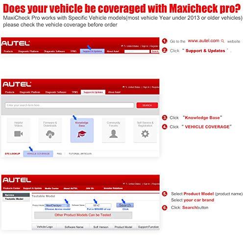 Autel MaxiCheck Pro Diagnostic Tool for ABS Brake Auto Bleed, Oil Service, ABS, SRS, BMS, DPF, EPB Service, SAS, Oil Light/Service Reset Scanner by Autel (Image #4)