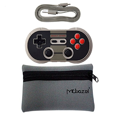 Mcbazel 8Bitdo N30 Pro Wireless Bluetooth Controller Dual Classic Joystick For Android Gamepad Pc Linux Nintendo Switch With Storage Pouch