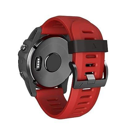 Zolimx Suave Silicona Reemplazo Sport Wirst Banda Correa de Reloj para Garmin Fenix 5X Plus Watch