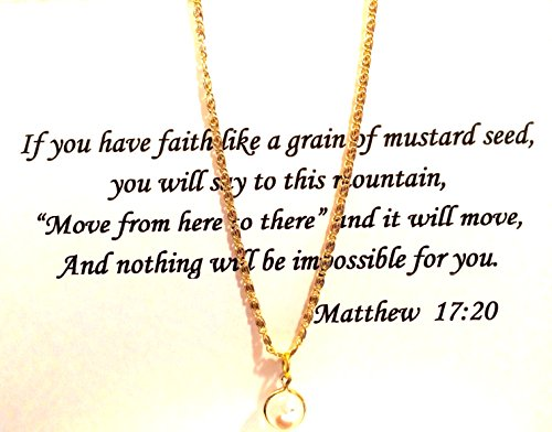 Vintage Mustard Seed Necklace (Popular in the 60's) Gold Plated 24