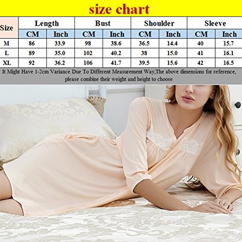 Zhhlaixing Unique Design Womens Button Pajamas Adult Comfortable Simple Sleep Skirt Black