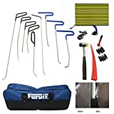 Furuix PDR Rods PDR Light Pdr Tool Kit Paintless Dent Repair Tools Dent Removal Kit Dent Puller With Hammer and Tap Down Hail Damage Repair