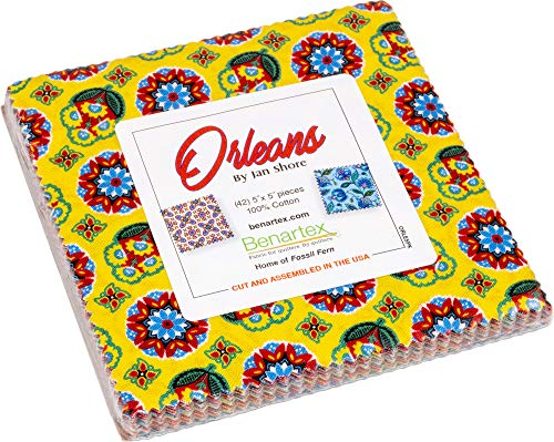 (Jan Shore Orleans 5X5 Pack 42 5-inch Squares Charm Pack Benartex)