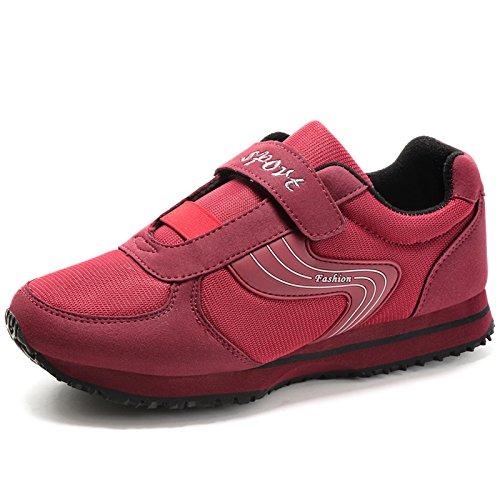 Suave Ancianos de Zapatos Antideslizante de Otoño los de los la Edad de la del Deportes Zapatos Informales Madre los de de Inferior y Parte dates Calzados Calza red Hasag Mediana A1 Primavera de Ancianos los los waqXZpYU