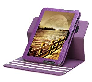 Poetic Dura Book Multi Angle Folio Cover Case for the Samsung Galaxy Tab 2 10.1-Inch Purple/White (3 Year Manufacturer Warranty From Poetic)