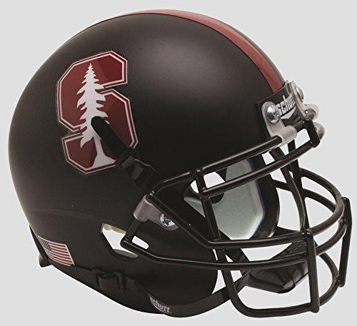 Schutt NCAA Stanford Cardinal Mini Authentic XP Football Helmet, Black Tree Alt. 3, Mini