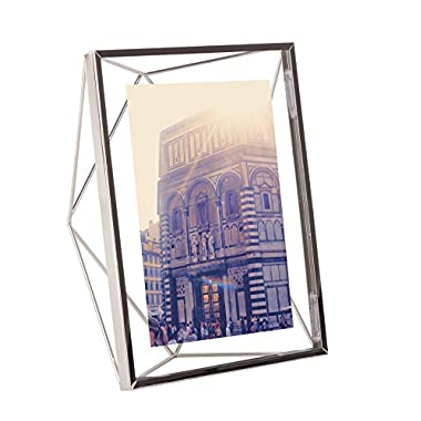 Umbra Prisma Picture Frame, 5 by 7-Inch, Chrome