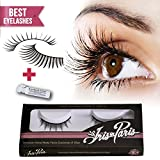 Professional False Eyelashes with Glue Set By Iris in Paris Thin and Natural Perfect for Beginners Reusable Great for Contact Lens Wearers Natural Fake Eyelashes