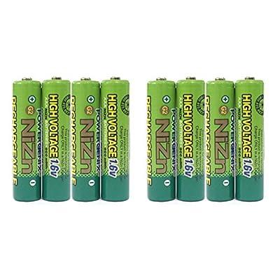 8 pcs 900mWh 1.6V Volt AAA 3A NiZn Rechargeable Battery High Voltage PowerGenix