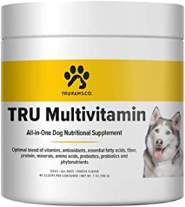 TRU Multivitamin: All-in-One Vitamin for Dogs of All Ages - 1 Month Supply