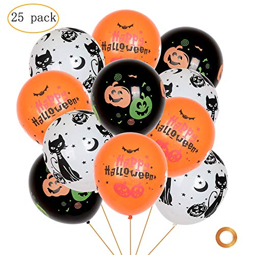 Halloween Decorations Supplies (25 Pieces Halloween Balloons Party Supplies 12 Inches Harry Halloween Latex Balloon for Halloween Party Decoration)