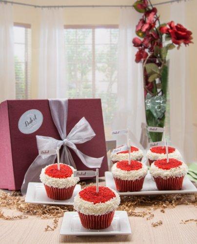 Dulcet Red Velvet Butter Cream Cupcakes Gift (Velvet Boxed)