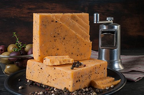 Cheddar Cheese Cheshire Cheese Five Peppercorn Cheddar Cheese Style- Golden Age Wisconsin Cheeses from Harmony Dairy
