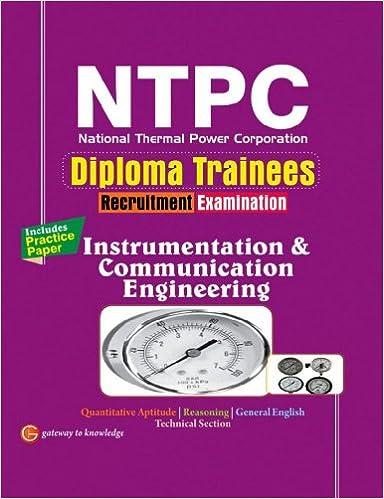 buy ntpc instrumentation communication engineering diploma  buy ntpc instrumentation communication engineering diploma trainees book online at low prices in ntpc instrumentation communication