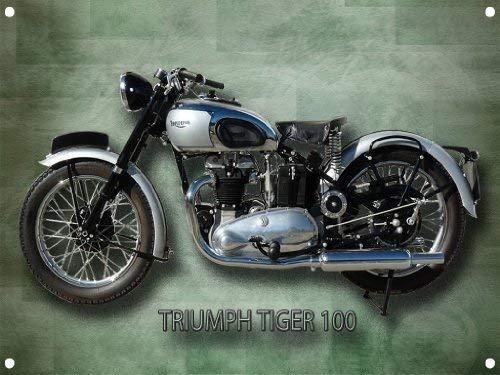 TRIUMPH Tigre 100 MOTO SIGNE m/étal