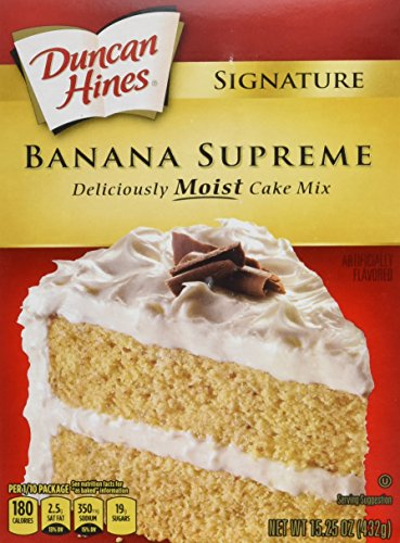 - Duncan Hines Signature Cake Mix, Banana Supreme, 15.25 Ounce (Pack of 12)