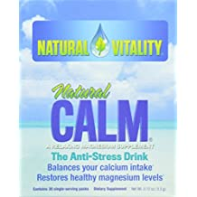 Natural Vitality Natural Calm Plus Drink (30 count) - Anti Stress Magnesium Drink Powder. Healthy Supplements