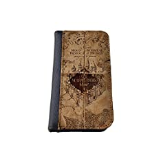 Marauders map Harry Potter inspired Samsung Galaxy NOTE 4 wallet case PU leather case, foldable flip case, book style - best Galaxy cases
