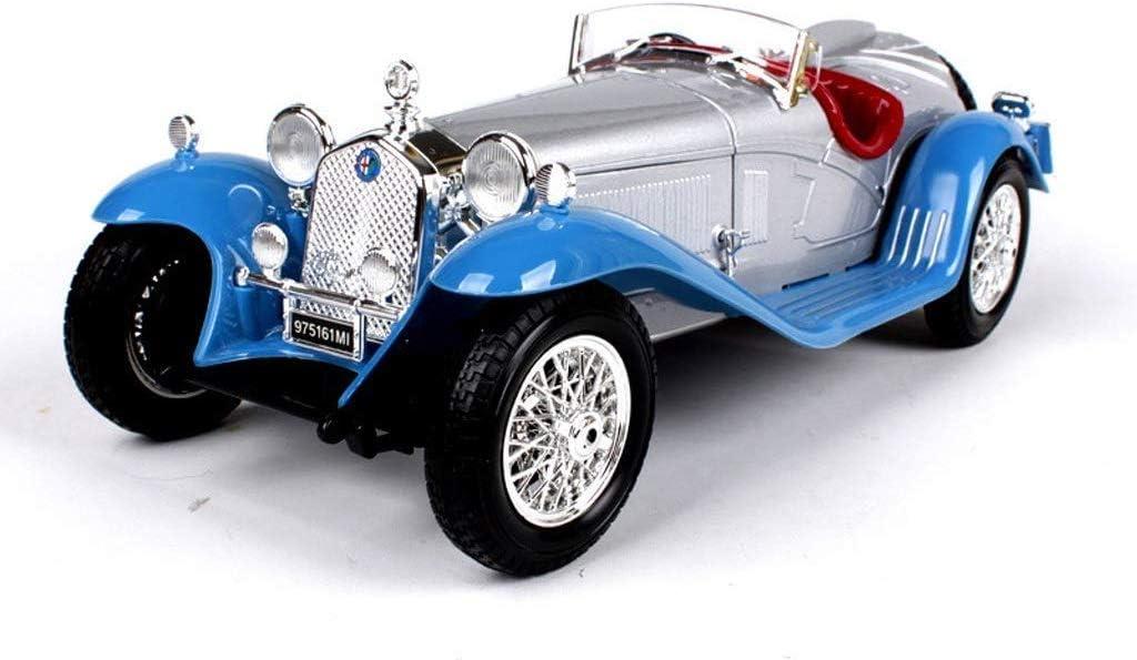XIUYU 1:18 Modelo de Coche Alfa Romeo 8C Simulación de aleación Modelo de Coche de Maestro (Color: Azul) hsvbkwm (Color: Azul) (Color : Blue)