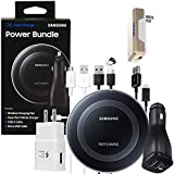 Official Samsung Fast Qi Wireless Pad - Power Bundle -for Galaxy S7/S8/S9/+/Note8/9/iPhone 8/+/X/XR/XS/Max (Retail Packing Kit)