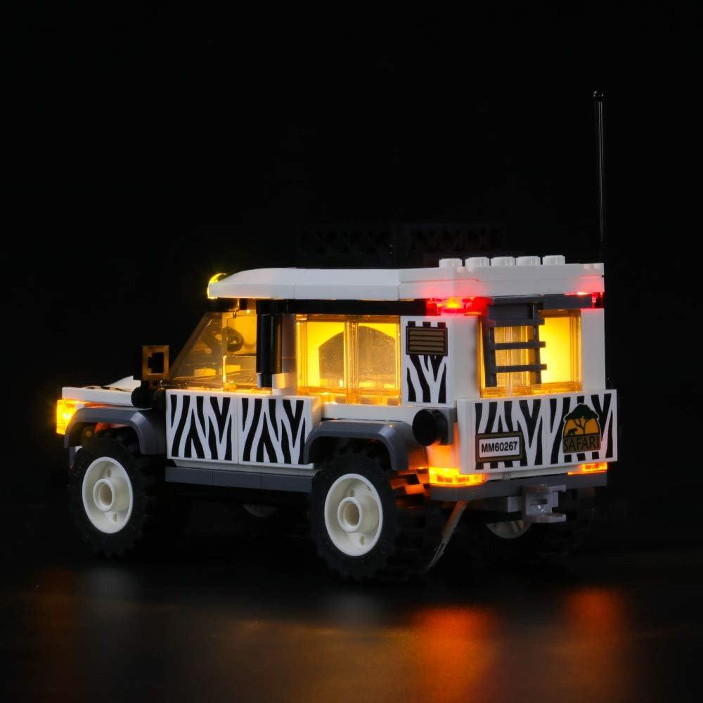 NOT Included The Model Building Blocks Model LIGHTAILING Light Set for Led Light kit Compatible with Lego 60267 City Safari Off-Roader