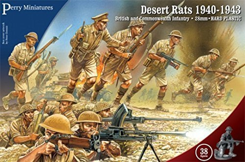 Perry Miniatures 8th Army Desert Rats WW2 1940-43 28mm Hard Plastic 38 Figures by Perry Miniatures ()