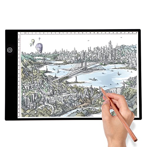 - A4 LED Light Box Tracer Ultra-Thin Portable, Adjustable Light Pad for Tracing, USB Power LED Artcraft Tracing Light Pad Copy Board for Artists Drawing,Sketching, Animation