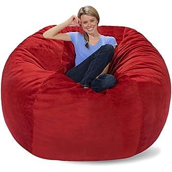 Amazon Com Comfy Sacks 6 Ft Memory Foam Bean Bag Chair