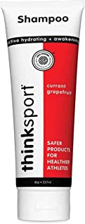 product image for Thinksport Shampoo For Men & Women, All Ages   EWG Verified, Paraben-Free, Phthalate-Free   Clean, Nourishing, Moisturizing, Hydrating, For Hair & Body - Currant & Grapefruit, 8oz, grapefruit, 1 Count