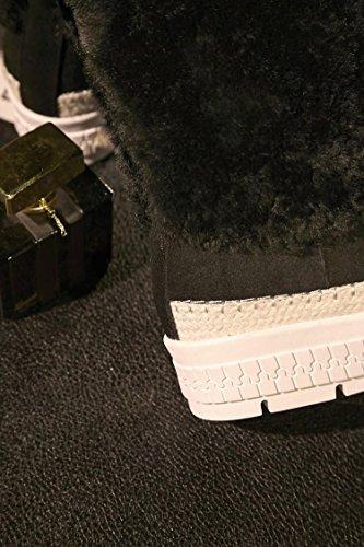 stivali stivali stivali NSXZ 38 stivali stivali stivali stivali spessore rotonda donne di BLACK caldo 36 neve da inverno pelliccia di delle WcWw1F5O