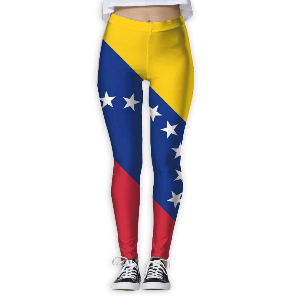 BabylLave Flag Of Venezuela Women Printed Full-Length Yoga Workout Leggings For Running Outdoor Sports